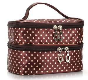 Designer Handbag 2020 Fashion Explosion Model Wavelet Double Layer Small Dot Cosmetic Bag