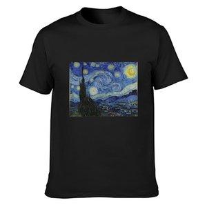 nuit étoilée par t-shirt vincent van Casual Imprimer Intéressant Lettres col rond standard chemise tee shirt printemps