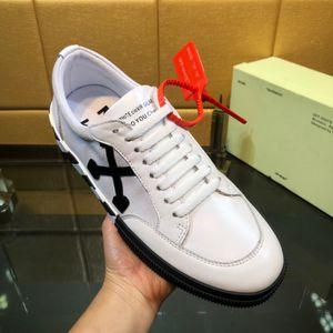 BESTE Qualität Low Top off SNEAKERS Pfeile bestickte weißen Männer Designer-Schuhe Top-Qualität aus echtem Leder Designer Turnschuhe Frauen 90603