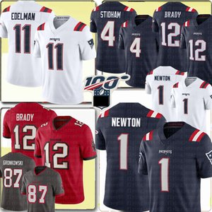 1 Cam Newton NewAngleterrePatriot le football Jersey 11 Julian Edelman 4 Jarrett Stidham 87 Rob Gronkowski 12 Tom Brady TampaBaie#