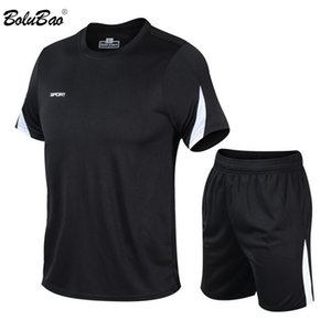 BOLUBAO Casual Brand Mens Sets Summer Tracksuits Men 2 Piece Set T-Shirt+Shorts Fashion Sportswear Jogging Track Suit Male T200709