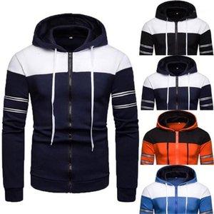 Vêtements Printemps contraste Hommes Couleur Hoodies Designer Casual Drawstring manches longues à capuche Cardigan Sweat New Mens