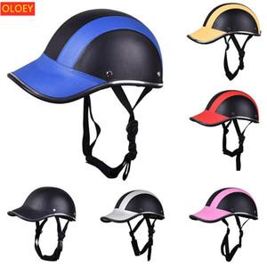 OLOEY Motorradhelmvisier-Helm Baseballmütze
