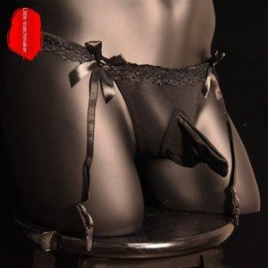 P6QvS grande tubo biancheria intima lunga triangolo bretella ultrasottili delle calze jj cintura di pizzo trasparente sexy degli uomini di dimensioni Sling pantaloncini in seta calze sho