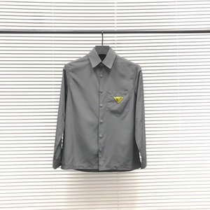 20ss hot seller shirt men retro blouse Imported material Comfortable and breathable slim arm letter Chest triangle lapel shirts