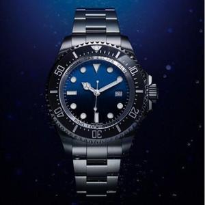 Top séries de plongée de conception principale de la montre 116660 bleu et noir 44mm plongée automatique en acier inoxydable mécanique montre lumineuse