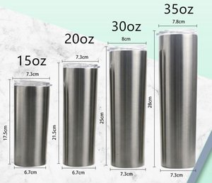 30oz Stainless steel skinny tumbler tumblers straight cups double walled vacumm insulated car mug coffee mugs A12