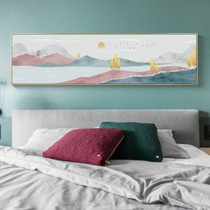 Scandinavian Art Posters Prints Modern Canvas Wall Art Abstract Landscape Oil Painting for Bedroom Decoration Nordic Picture Home Decor