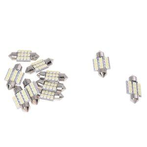 10 Sipariş Ampüller torpido Işıklar 12 LED SMD Beyaz 31mm