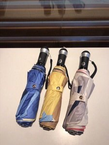 3 Colors Latest Unisex Umbrellas Fashion Printed Men Women Sunny & Rainy Umbrella Outdoor Portable Lover Parasol YS07