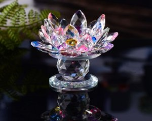2020 Lotus lamp holder colorful crystal lotus candlestick candle light wedding with Buddhist candlestick butter lamp decoration 002