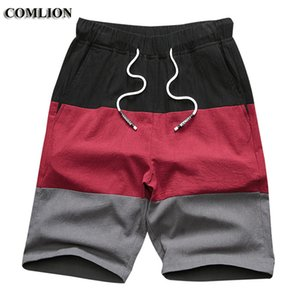 Wholesale New Brand Men Sporting Beach Shorts Cotton and Linen Bodybuilding Sweatpants Slim Fit Short Trousers Casual Shorts C41