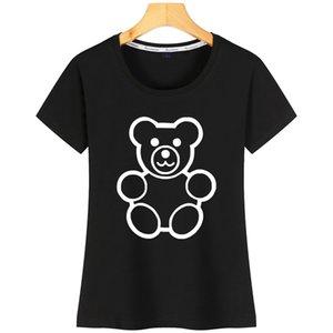 Teddy Bear Funny Women T Shirt Sunlight Basic SizeCharacter Short Sleeve