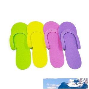 EVA Foam Salon Spa Slipper Disposable Pedicure Thong Slippers Hotel Travel Home Guest Beauty Slipper Closed Toe Shoe ZA1372