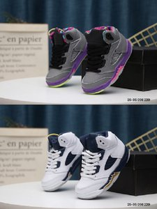 2020 5 mor beyaz çocuk basketbol ayakkabıları ayakkabılar yüksek top spor ayakkabıları çocuklar tasarımcı eğitmenler boys Su geçirmez kaymaz aşınma Breathab çalışan