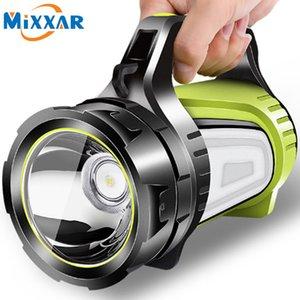 ZK20 antorcha de gran alcance / LED Reflector portátil linterna incorporada Spotlight de baterías recargables de espera Power Bank