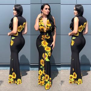 2020 Африканские платья для женщин Новой Summer Long Maxi платье Традиционных Элегантных печатей African Одежда
