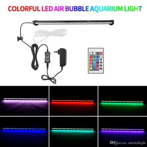 Light Up Aquarium Lichtstreifen Farbe Fernbedienung Gaslicht RGB LED Aquarium-Lichter mit RBG Fernbedienung einstellbar steuern