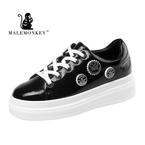 MALEMONKEY Moda Casual zapatos de las señoras zapatos planos de las mujeres blancas 2020 ata para arriba las zapatillas de deporte de verano transpirable mujeres de solaz 831703