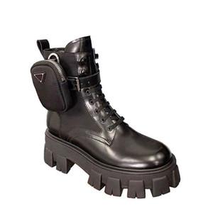 Bottes Femmes Chaussures Femme Plateforme Chaussures Femme Noir Lacets Botines Marque Designer Ladies Chaussures en cuir Botas De Mujer 2020 Prd