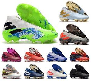 2020 Hot Mens Messi Nemeziz 19+ Laceless FG Uniforia ace pack 19 + x Slip-On Chaussures de soccer football de Bottines Crampons Taille US6.5-11