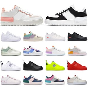2020 nike air force 1 af1 shoes Männer Frauen Plattform Schuhe Schatten Coral Pink Pale Ivory Triple weiß Schwarz Aurora Spruce Aura Flachs Herren Turnschuhe Skate Sport Turnschuhe