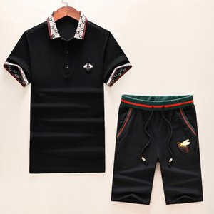 New 2020 Summer tracksuit Set Running mens tracksuit Letter Slim Clothing Track Kit Luxury Sports Short sleeve Suit E6