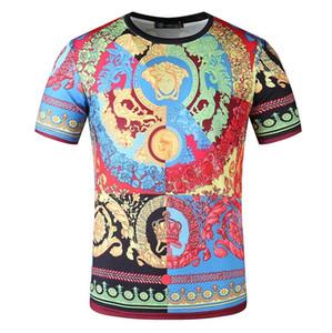 Neue Sommer-T-Shirt mit 3D-Druck-T-Shirt für Männer und Freizeithemdes kurzärmeliges Fitness Mode-T-Shirts der Frauen Versace T-Shirt
