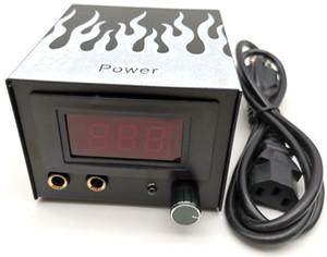 2Pcs Wholesale Professional LCD Digital Tattoo Power Supply Body Art Permanent Makeup Tool For Tattoo Machine