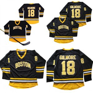 Бостон 18 Счастливчик Гилмор Фильм хоккей Джерси 100% прошитой женщин людей молодежь Счастливчик Гилмор Хоккей Трикотажный