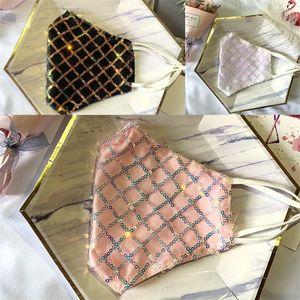 Регулируемый складной рот Респиратор для взрослых моющихся мод Mascarilla Lattice пришивание кружево маска Защитных Anti Dust 5 2HS B2