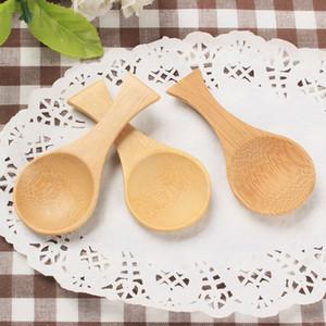 Nouvelle arrivée naturelle Soupe enfants Mini Bamboo Spoon Mini poignée courte thé usine cuillère gros LX3056
