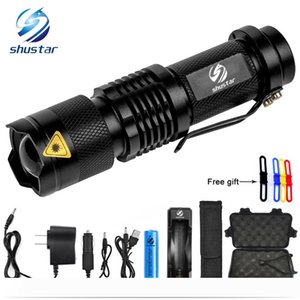 Mini Zoom T6 L2 Flashlight Led Torch 5 mode 8000 Lumens waterproof 18650 Rechargeable battery give free gift