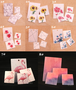 DIY handmade jewelry earring necklace packing card cute stud drop earring display card 100pcs per lot simple marble line tags