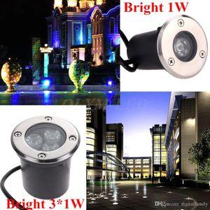 للماء الصمام دفن أضواء IP67 راحة الخطوة نافورة مصابيح فناء رصف التفاف على المجالس في الهواء الطلق الإضاءة 1W 3W تحت الأرض LED ضوء بركة السباحة