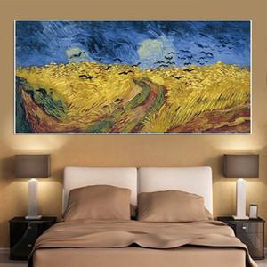 Pittura Campo di grano corvi impressionist famoso olio di Van Gogh della riproduzione di arte Poster Stampe astratta arte della parete la decorazione domestica