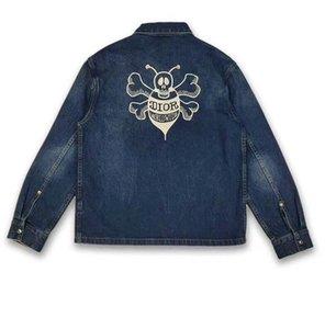 Denim flying jacket men's designer Vest Jacket Women's Vest logo embroidery splicing design front long back short fashion trend design
