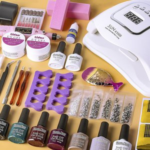 Nail Set 120W UV LED Lamp Dryer For Manicure Gel Varnish Nail Polish Kit Electric Drill Manicure Home Use DIY Art Tool