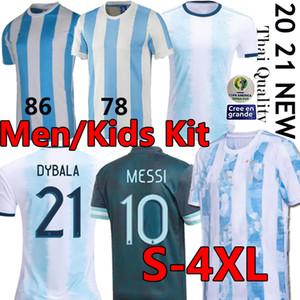 20 21 Argentine 1986 Retro Soccer Jersey Maradona 1978 Vintage classique MESSI Aguero Dybala football Chemises Maillot Camisetas de Futbol