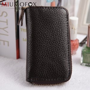Famous Fox genuine leather Korean Men's multi-function key case small bag fashion cowhide key case card can be placed