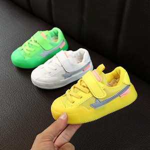 New Baby Boys Girls Shoes 2019 Autumn Breathable Anti-Slip Sneakers Toddler Mesh Sport Shoes Casual Kids Soft Soled First Walkers
