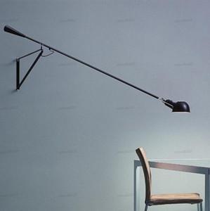 lâmpada de parede levou luz swing longo braço luzes brancas pretas para casa ajustável moderna sconce industrial do vintage E27 quarto foyer LLFA