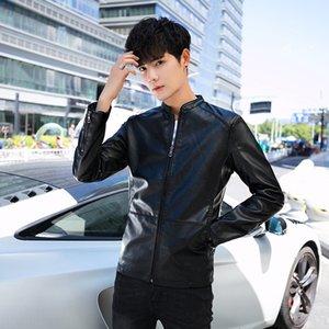 XbXup 2019 New clothes Korean slim autumn youth locomotive clothes men's casual Jerseys Leather coat leather coat jacket fashion men's cloth