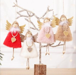 2020 New Year Latest Christmas Angel Dolls Cute Xmas Tree Ornament Noel Deco Christmas Decoration for Home Navidad 2019 Kid Gift GB1310