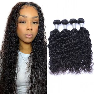 Peruvian Virgin Human Hair Extension Water Wave Bundle Natural Color Double Drawn Natural Wave Hair Weaves