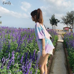 2020 Summer Women Fashion Casual Simple Letter Print Round Neck Multicolor Short Sleeves Creative Women T Shirt Mx19b3314