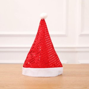 Sequin Christmas Hat Santa Christmas Adult Hat Party Supplies Decoration Home Garden Hats