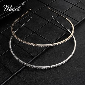 Miallo Fashion Austrian Crystal Wedding Crowns and Tiaras Bridal Hairband Hair Jewelry Accessories Headpieces for Women -J2699