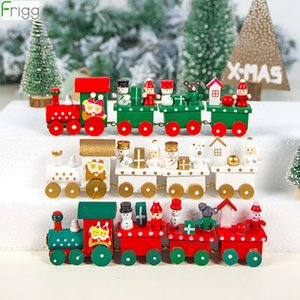 Wooden Christmas Train Merry Christmas Decorations For Home 2019 Ornaments Chrismas Gifts Kerst Navidad Noel New Year