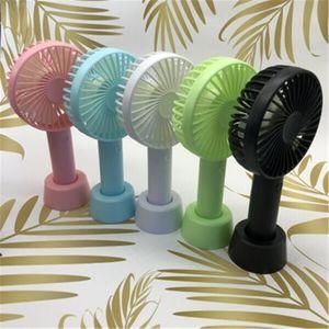 2020Bracket Handheld Fan 3 Speed Adjustable Cooling Fan Portable Mini USB Rechargeable Fans Party Favor 200pcs